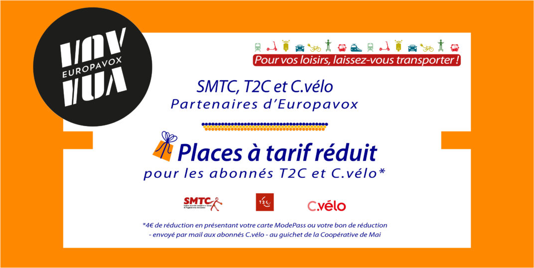 4€ de réduction pour les abonnés T2C & C.Vélo !