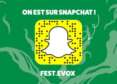 On est aussi sur Snapchat !