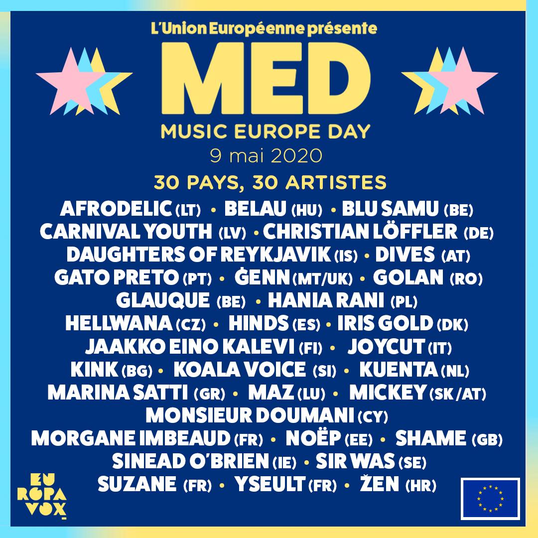 30 pays, 30 artistes !