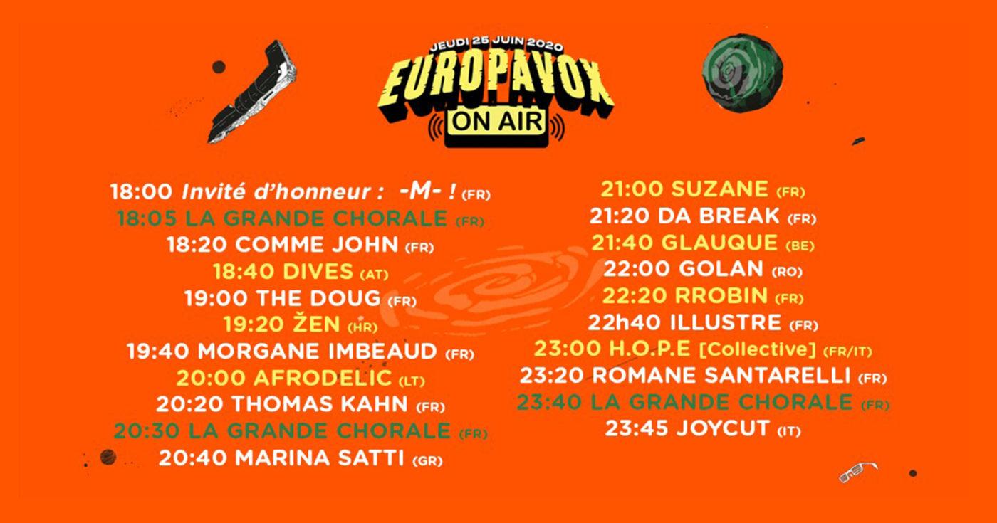 Europavox On Air : la timeline !